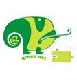 Green chameleon logo vector image vector image