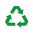 green recycle sign vector image vector image