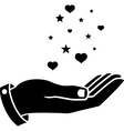 Hand of black colour vector image vector image