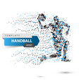 handball dot on the white background vector image vector image