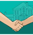 Handshake with house vector image