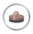 Horse body brush icon in cartoon style isolated on vector image vector image
