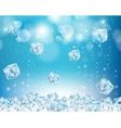 ice cube abstract background vector image vector image