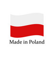 icon made in poland vector image vector image