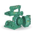 industrial machine vector image