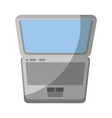 isolated portable laptop vector image vector image