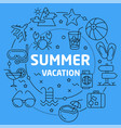linear summer vacation vector image