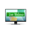 live webinar concept top down view to books vector image vector image