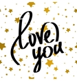 love you lettering vector image