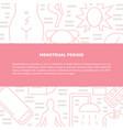 menstrual pain symptoms and treatment concept vector image