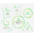 Minimal line design shopping stamps vector image