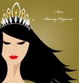 Miss Beauty Pageant vector image vector image