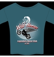 Motor Club t-shirt membership design vector image vector image