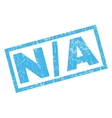 N-A Rubber Stamp vector image