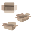 Open cardboard boxes vector image