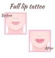 permanent makeup lips vector image