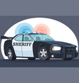 police interceptor sheriff s car black and white vector image vector image