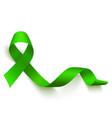 realistic green ribbon medical symbol lymphoma vector image