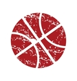 Red grunge basketball logo vector image