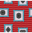 Seamless pattern with diamond icons vector image vector image