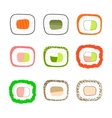Simple sushi icons set vector image vector image