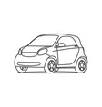 small hatchback compact car line icon vector image vector image