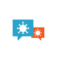 speak bubble with coronavirus icon covid-19 vector image