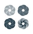 spiral and swirl motion twisting circles design vector image