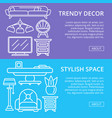 stylish and cozy home space linear posters vector image vector image