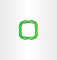 stylized green square frame icon vector image