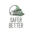 t-shirt design slogan typography safer better vector image
