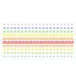 ten digits text shape halftone spectral array vector image