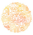 Thanksgiving day line icon circle design vector image