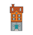 townhouse village line icon concept townhouse vector image