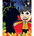 Vampire boy near the castle vector image vector image
