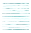 Watercolor stripes strokes brushes vector image