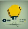 geometric abstract hi-tech concept vector image