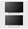 3d realistic white and black blank tv vector image vector image