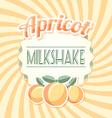 Apricot milkshake vector image vector image