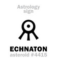 astrology asteroid echnaton akhenaten vector image vector image