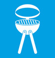 barbecue grill icon white vector image vector image