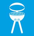 barbecue grill icon white vector image