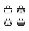 basket icon design christmas background vector image vector image
