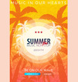 beautiful flyer for summer party radio music vector image