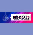 big christmas sale banner with decorative ball vector image