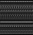 black and white ethnic background vector image