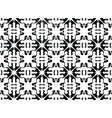 black and white floral ornament for ceramic tiles vector image
