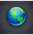 Blue earth on flax background vector