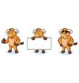 Bull Cream Mascot happy vector image vector image