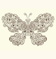 butterfly made of flowers vector image